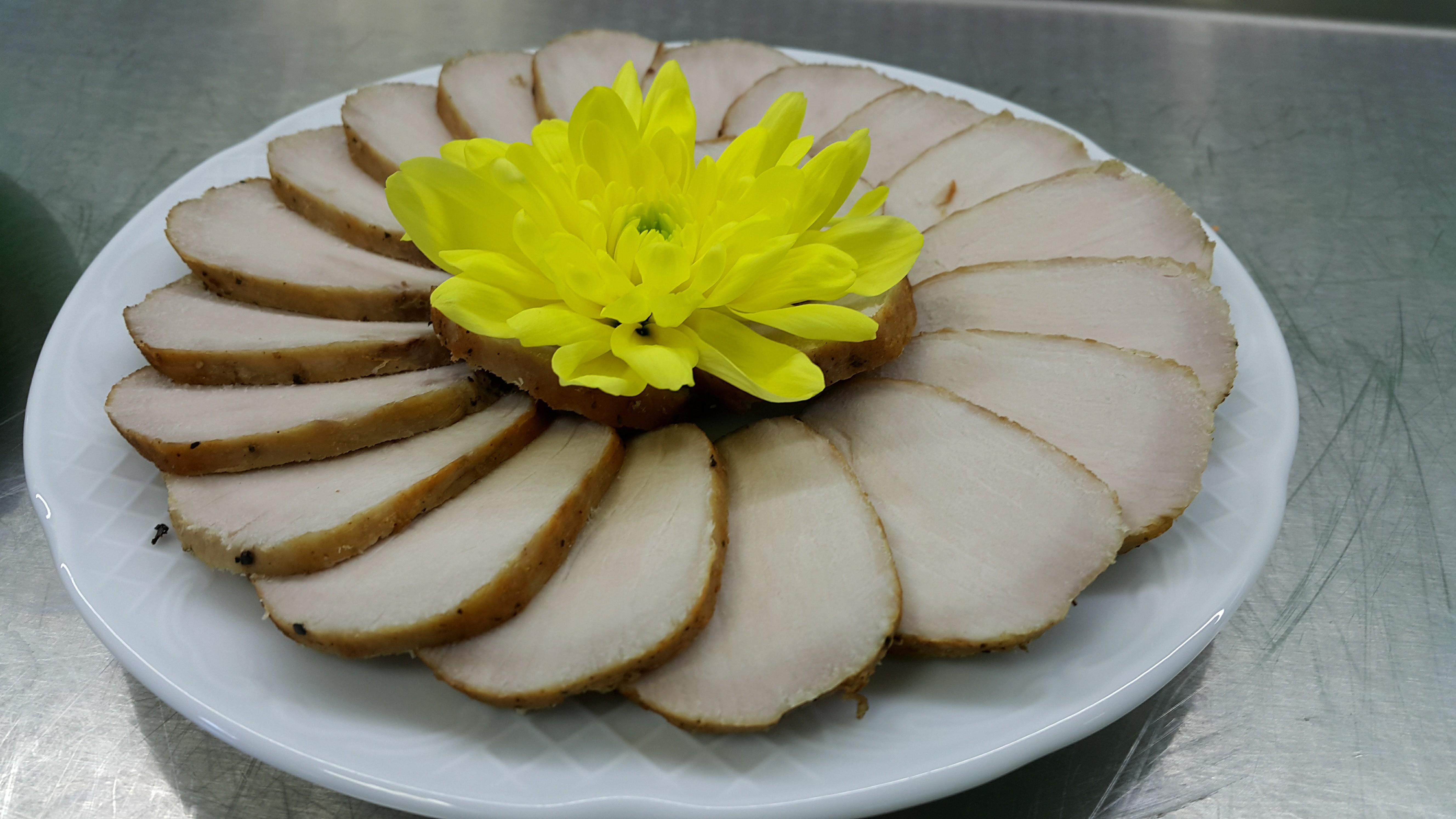 свинско, цветя, sous vide, pork loin, су вид,