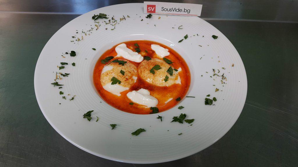 Яйца по панагюрски в Sous Vide
