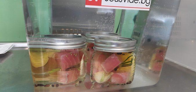 Риба тон конфи в sous vide
